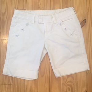 Lucky Brand White Denim Rolled Shorts